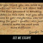 See me escape - online scavenger hunt